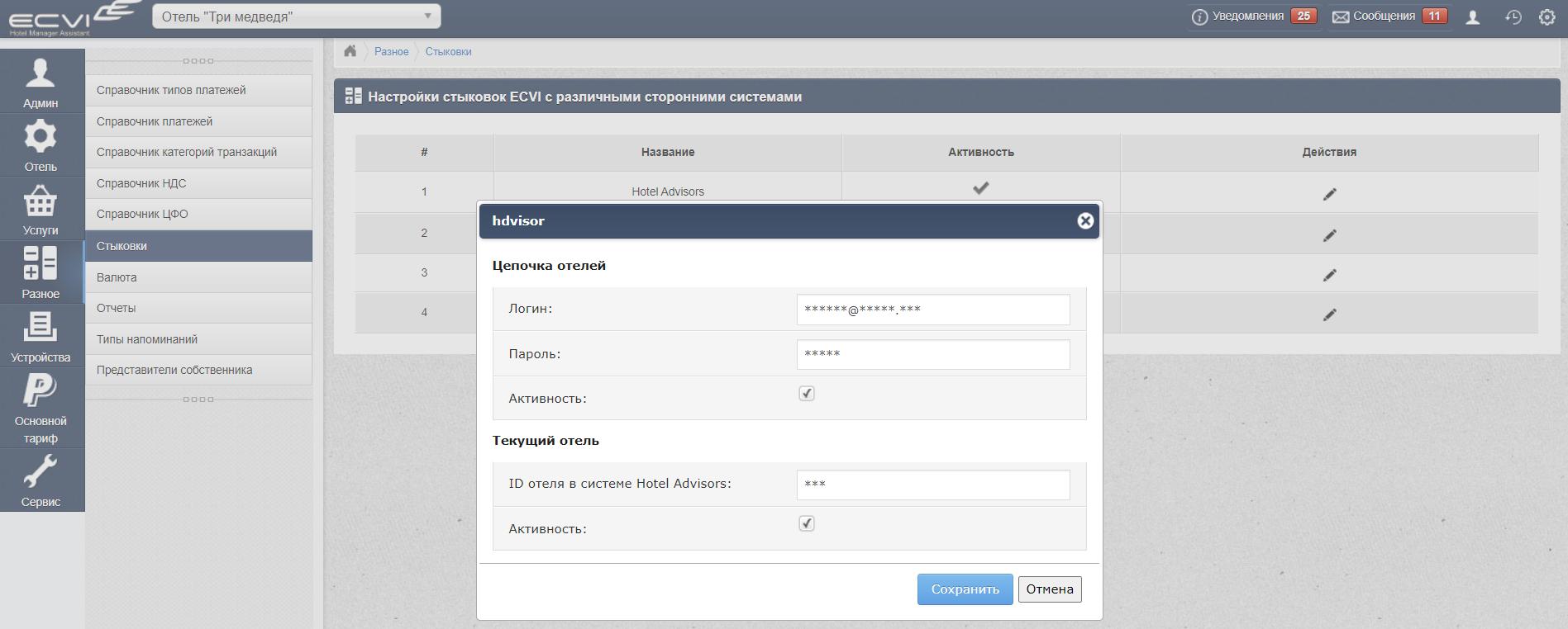HMA Ecvi: интеграция с системой аналитики Hoteladvisors